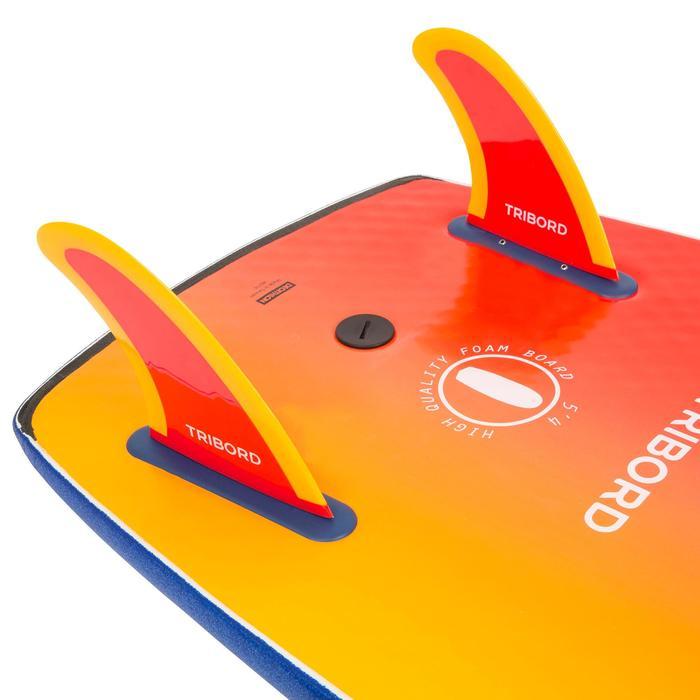 """Aileron 5.5"""" soft edge orange pour surf 900 5'4 mousse."""