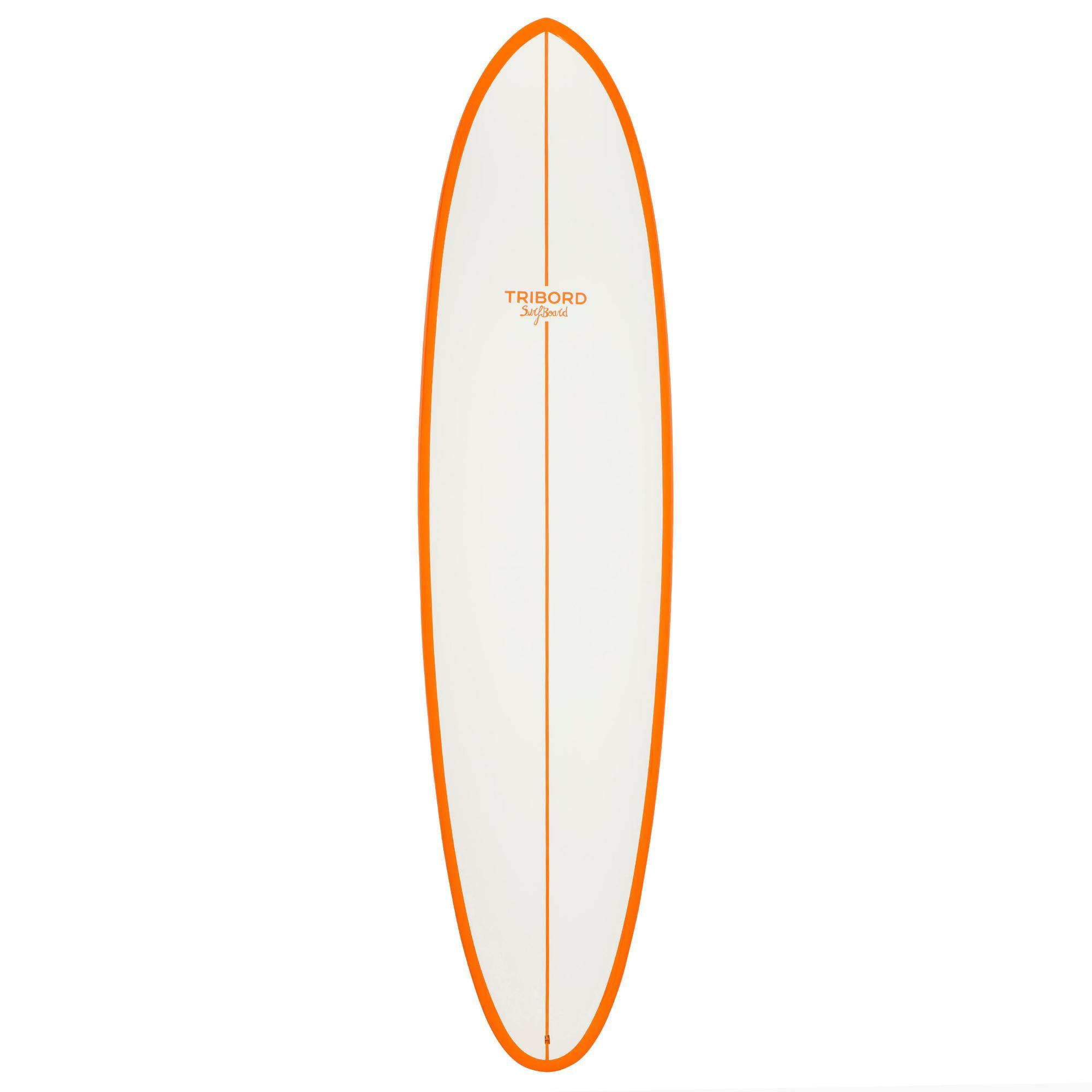 planche de surf 500 7 39 2 blanc orange r sine epoxy tribordvoile. Black Bedroom Furniture Sets. Home Design Ideas