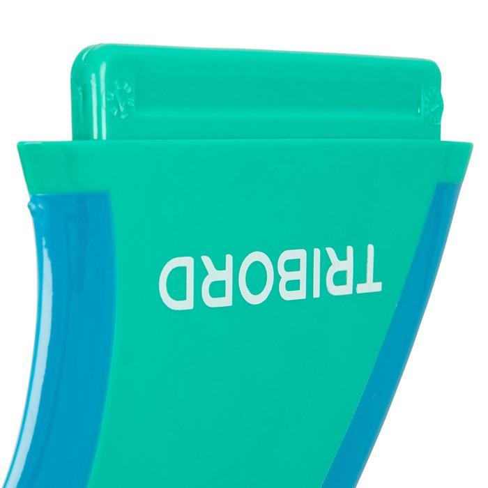 """泡棉衝浪板 900用軟邊板舵 4.5"""" - 綠色"""