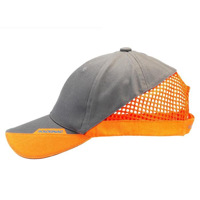 Gorra Ball Trap Solognac Clay 100 Gris Naranja