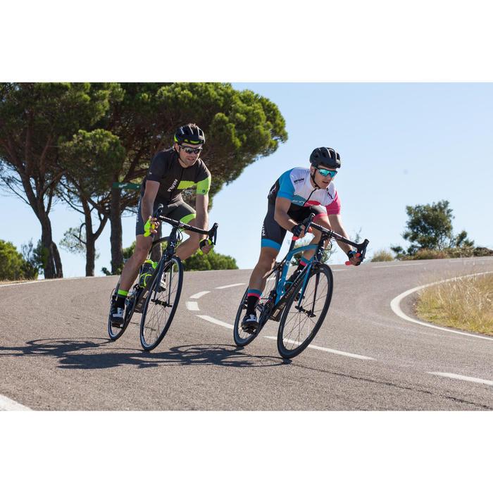 CASCO CICLISMO RACER NEGRO/AMARILLO FLUO