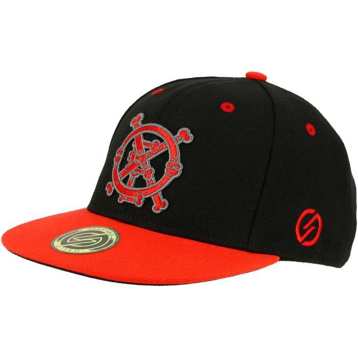 Gorra de skateboard para niños BONES negro rojo