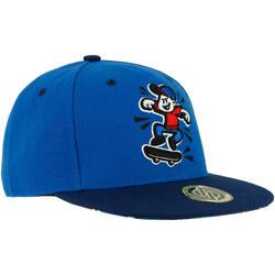 Schirmmütze Skater-Cap Cap500 Logo Cube Full Black Kinder