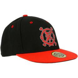 Skatepet voor kinderen CAP500 Bones zwart rood