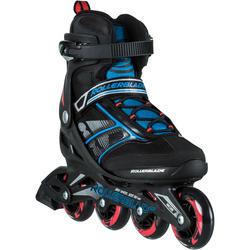 Fitness skates Bravo Rollerblade voor heren zwart/blauw/rood