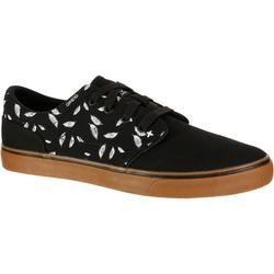 Chaussures basses skateboard-longboard adulte VULCA CANVAS M bi plume noire