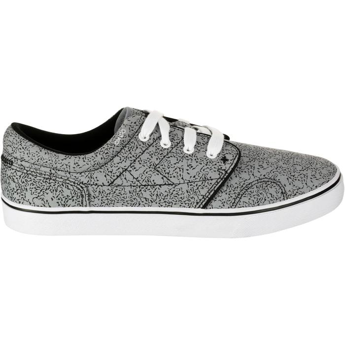 Zapatillas bajas skateboard-longboard adulto VULCA 100 CANVAS M allover gris