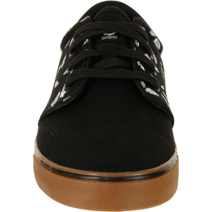 Sneaker Vulca Canvas M All Over Low Skaterschuhe Erwachsene Feather schwarz