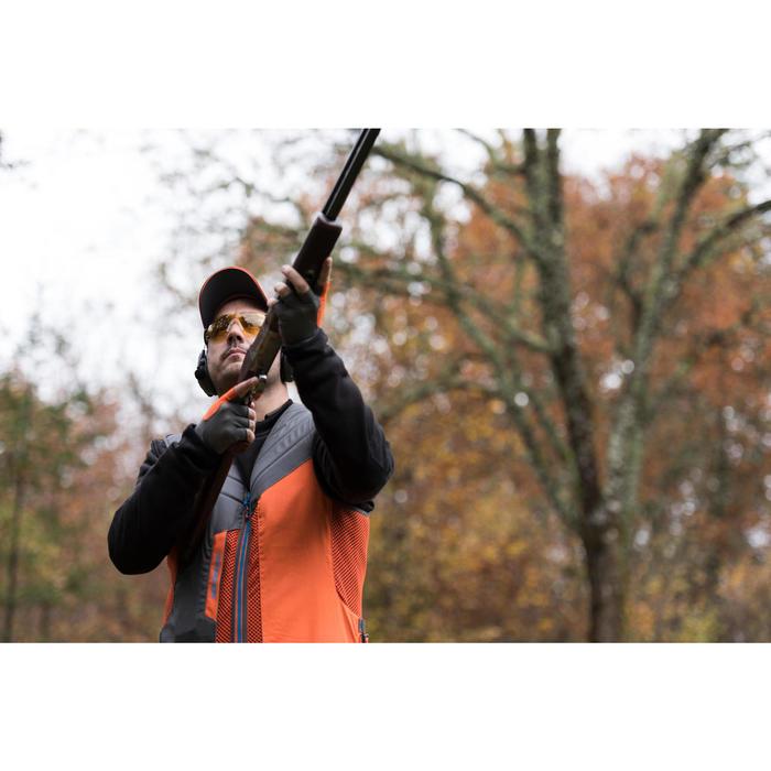 Jagdweste Ball Trap 500 Wurfscheibenschießen grau