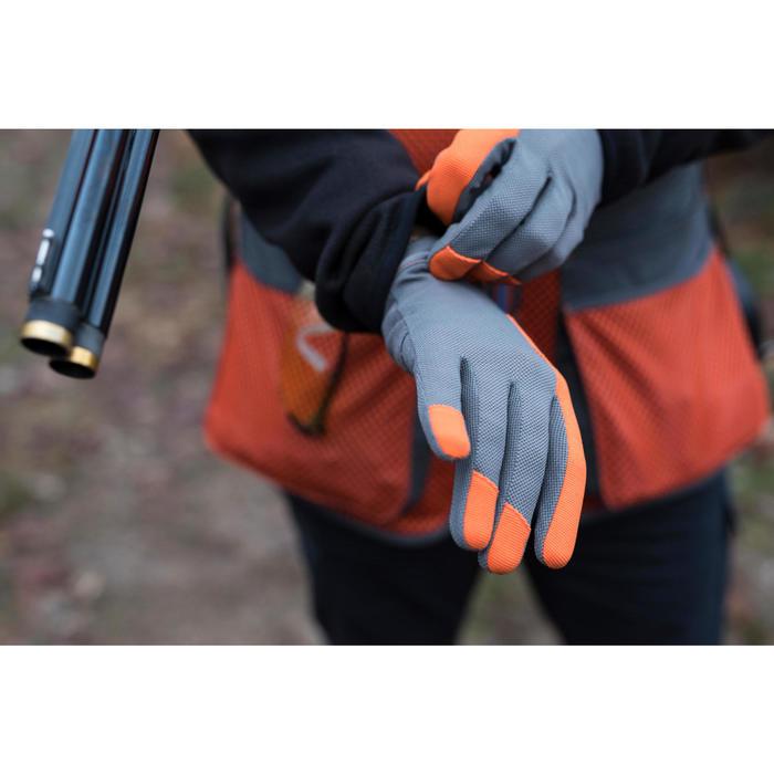 Guantes Ball Trap Solognac Clay 100 Gris Naranja