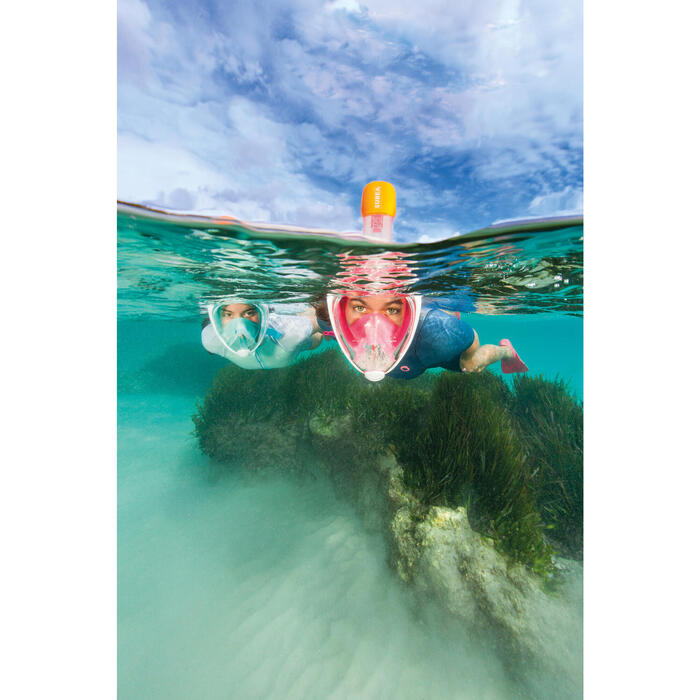 Masque de snorkeling en surface Easybreath rose
