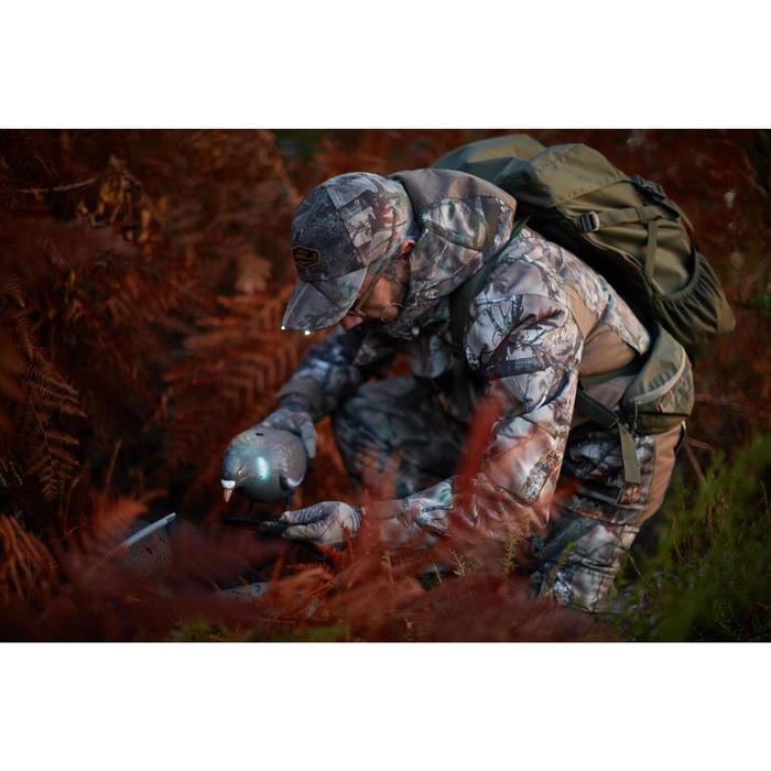 Casquette éclairante chasse Actikam 500 Led camouflage marron - 1120406