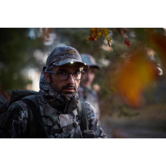 Casquette éclairante chasse Actikam 500 Led camouflage marron - 1120410