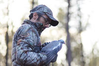 SILENT HUNTING DOWN JACKET 500 FOREST CAMOUFLAGE