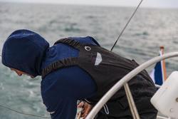 Waterdichte en ademende hoge zeilbroek Ozean 900 voor heren zwart - 112042