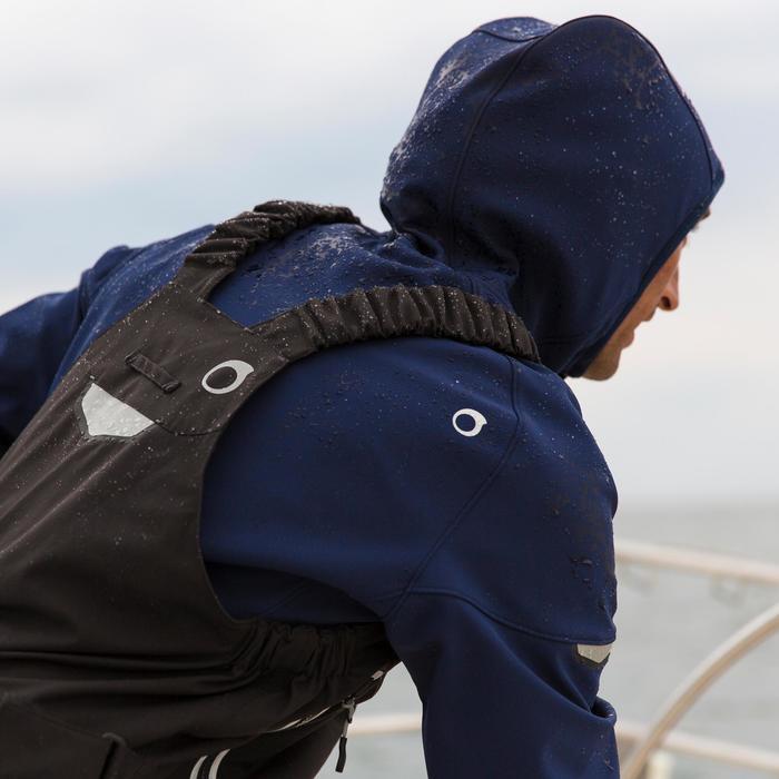 Salopette de quart Ozean 900 Homme imperméable et respirant Noire - 112045