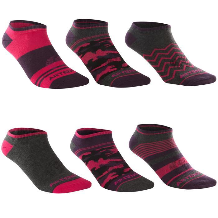 Lage sportsokken Artengo RS160 roze set van 6