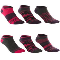 CHAUSSETTES DE SPORT BASSES ADULTE ARTENGO RS 160 MIX NOIR & LOT DE 6