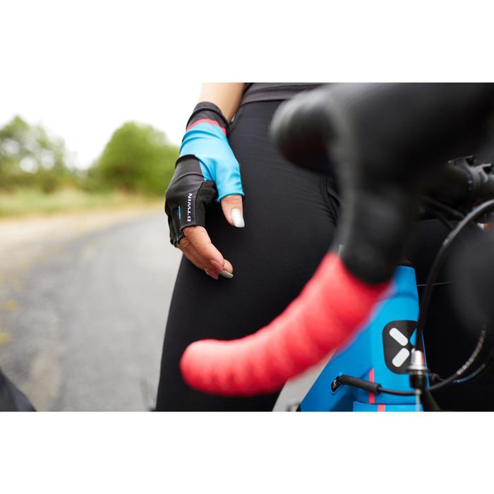Fahrradhandschuhe Aerofit 900 schwarz/blau/rosa