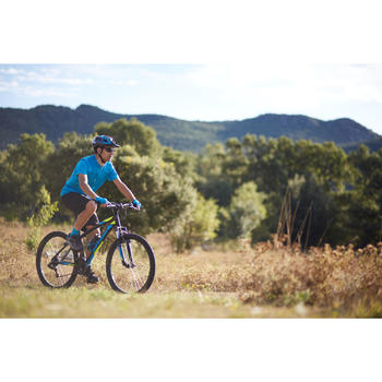 Kurzarm-Fahrradtrikot 100 Herren blau