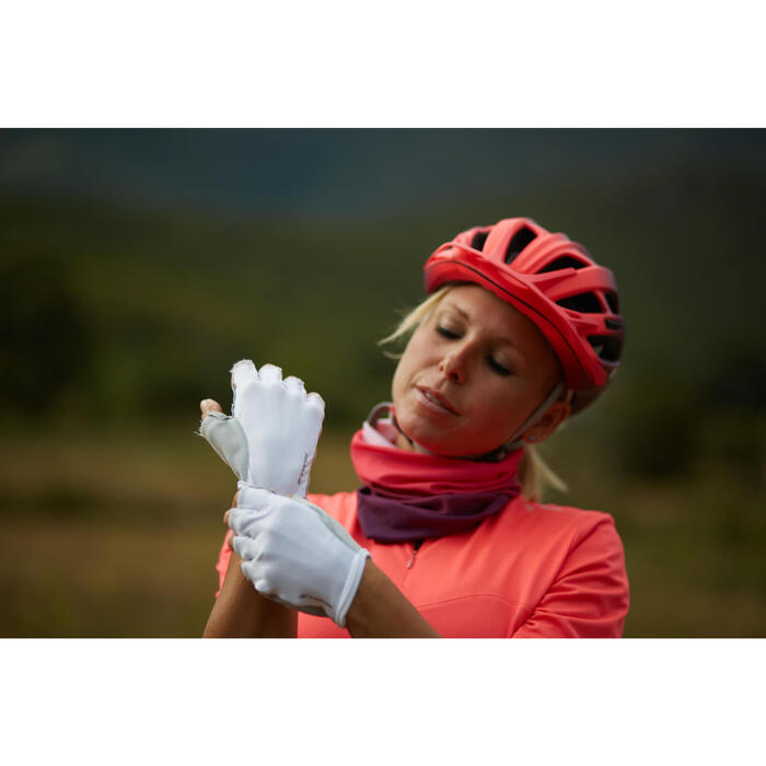 Gants vélo femme ROADC 100 BLANC - 1120639