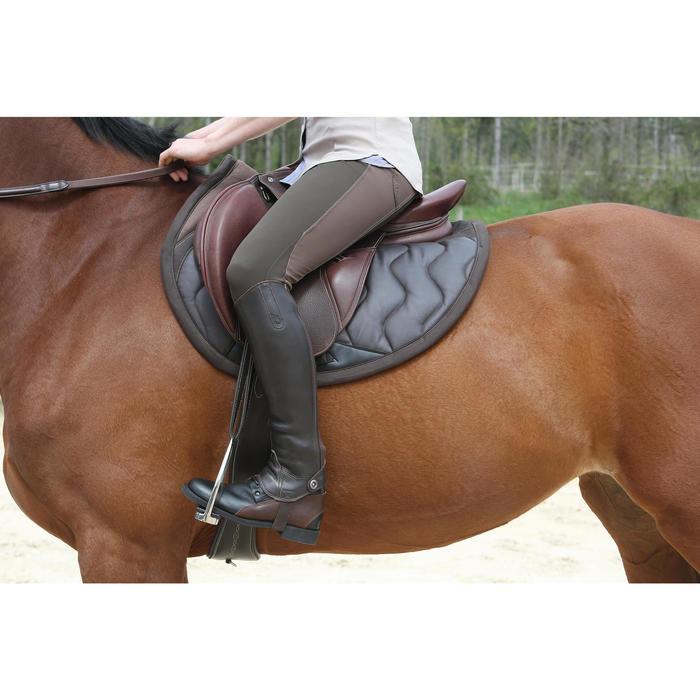 Polainas equitación adulto PADDOCK 700 piel Marrón