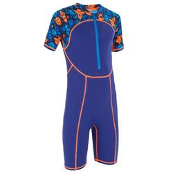 BOYS' SHORTY SWIMSUIT - BLUE/ORANGE