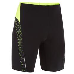Boys. swimming jammer shorts - Printed black yellow