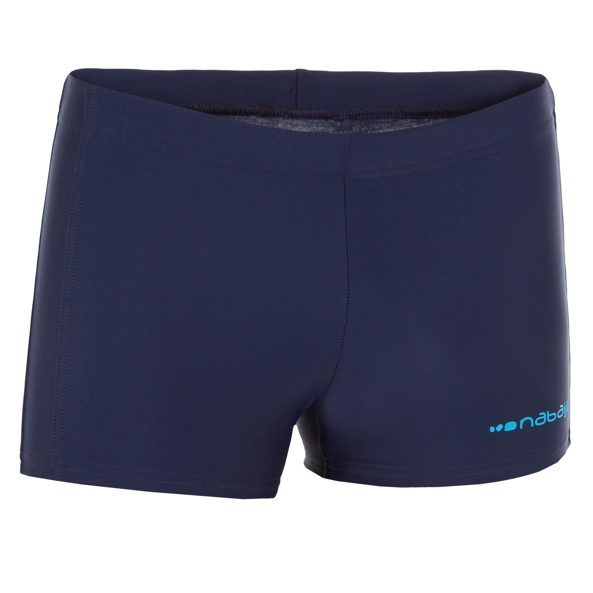 Nabaiji Zwemboxer voor jongens 100 Plus Pip blauw