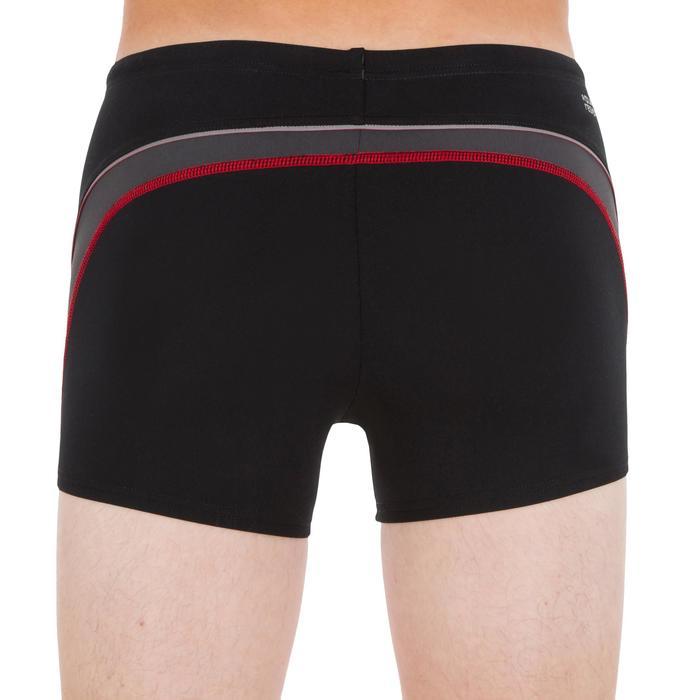 Badehose Boxer 500 Fit Jungen schwarz/grau