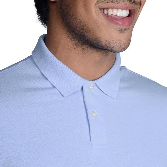 Golf Poloshirt 100 Kurzarm Herren mildwarm himmelblau