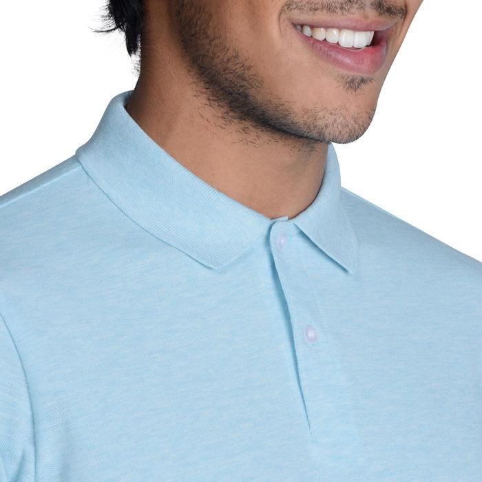Golf Poloshirt 500 Kurzarm Herren türkis meliert