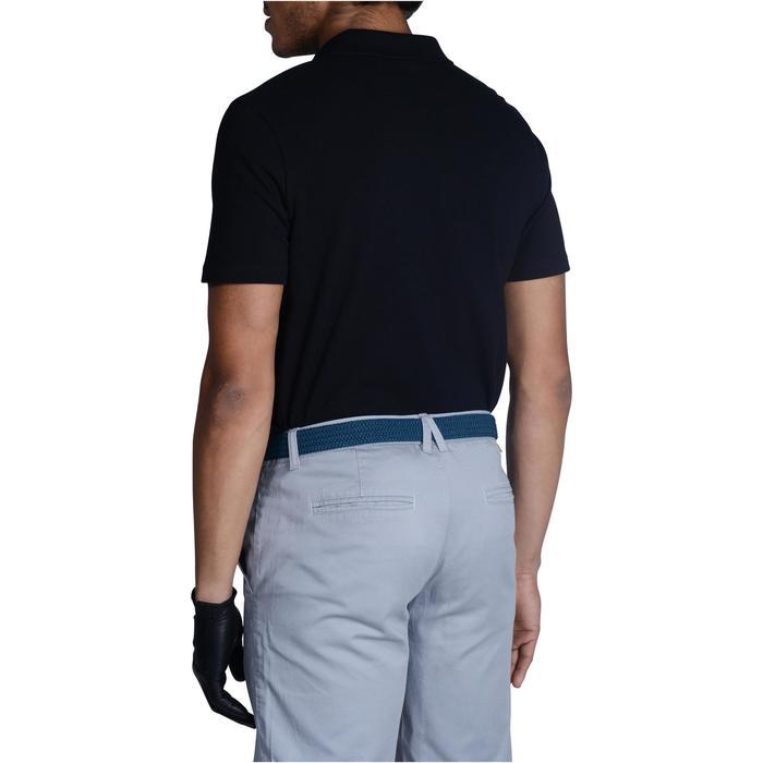 Polo de golf hombre manga corta 500 tiempo templado negro