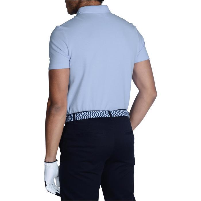 Golfpolo 100 met korte mouwen voor heren, zacht weer, lichtblauw