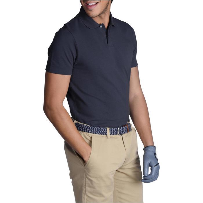 Polo de golf homme manches courtes 100 temps tempéré gris
