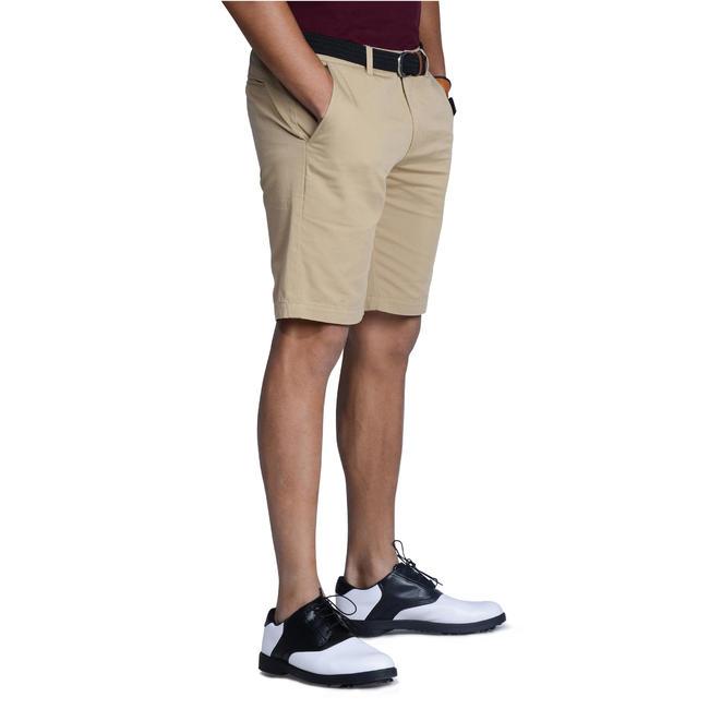 Men Golf Bermuda Shorts 500 Beige