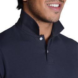 Polo à manches courtes homme 100 temps tempéré gris