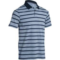 520 Men's Golf Short Sleeve Warm Weather Polo - Navy Blue Grey Stripes