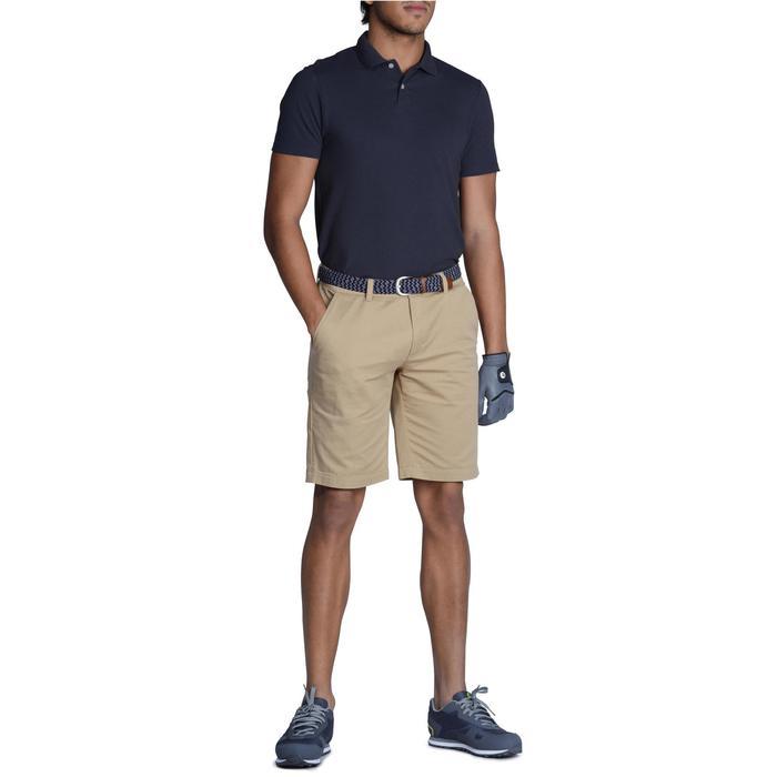 Golfpolo 100 met korte mouwen voor heren, zacht weer, grijs