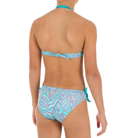 Tami Girls' Two-Piece Halterneck Swimsuit - Palm Blue