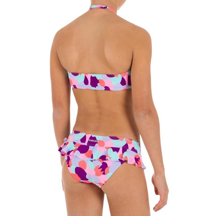 Bikini niña sujetador tipo banda con volante CAMO ROSA
