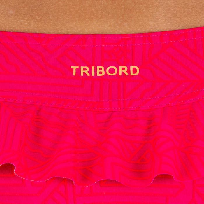 Bikini para niña sujetador tipo banda volante NEON RED