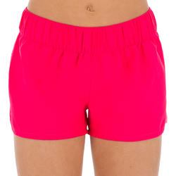 Boardshort niña corto con cintura elástica ROSA