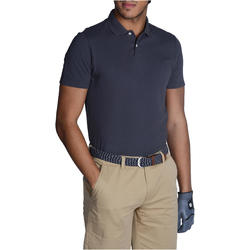 100 Men's Golf Short Sleeve Temperate Weather Polo Shirt - Grey
