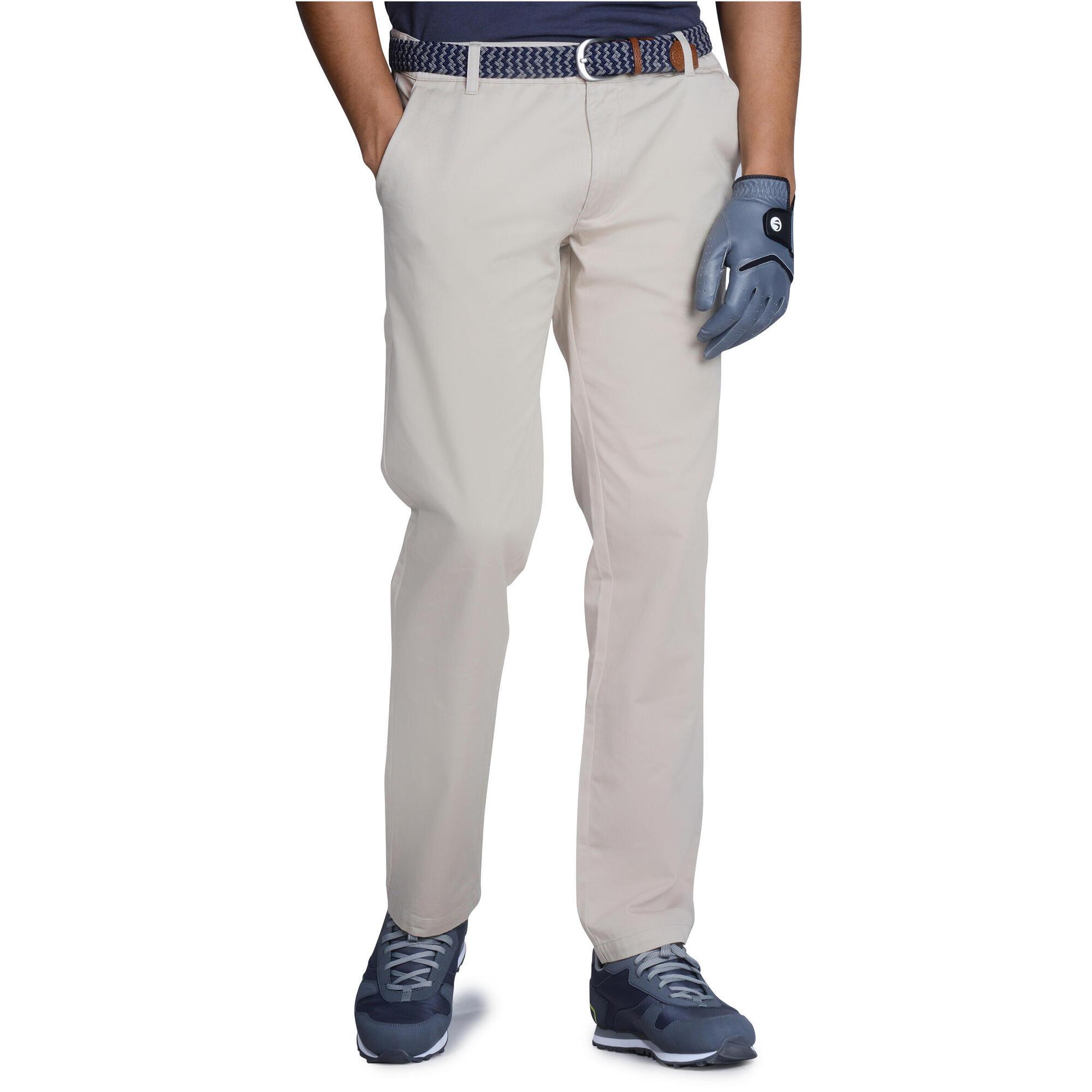 pantalon golf homme 100 beige inesis golf. Black Bedroom Furniture Sets. Home Design Ideas