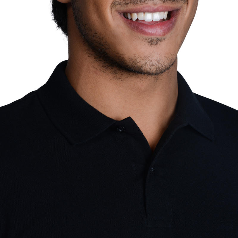 500 Men's Golf Short Sleeve Temperate Weather Polo Shirt - Black