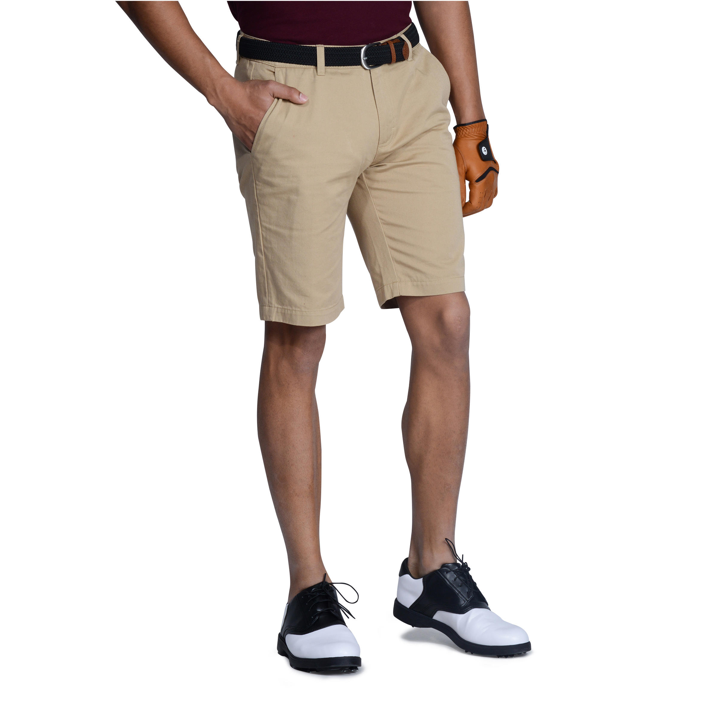Men Golf Bermuda Shorts 500 Beige