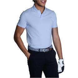 Polo de golf homme manches courtes 100 temps chaud bleu ciel