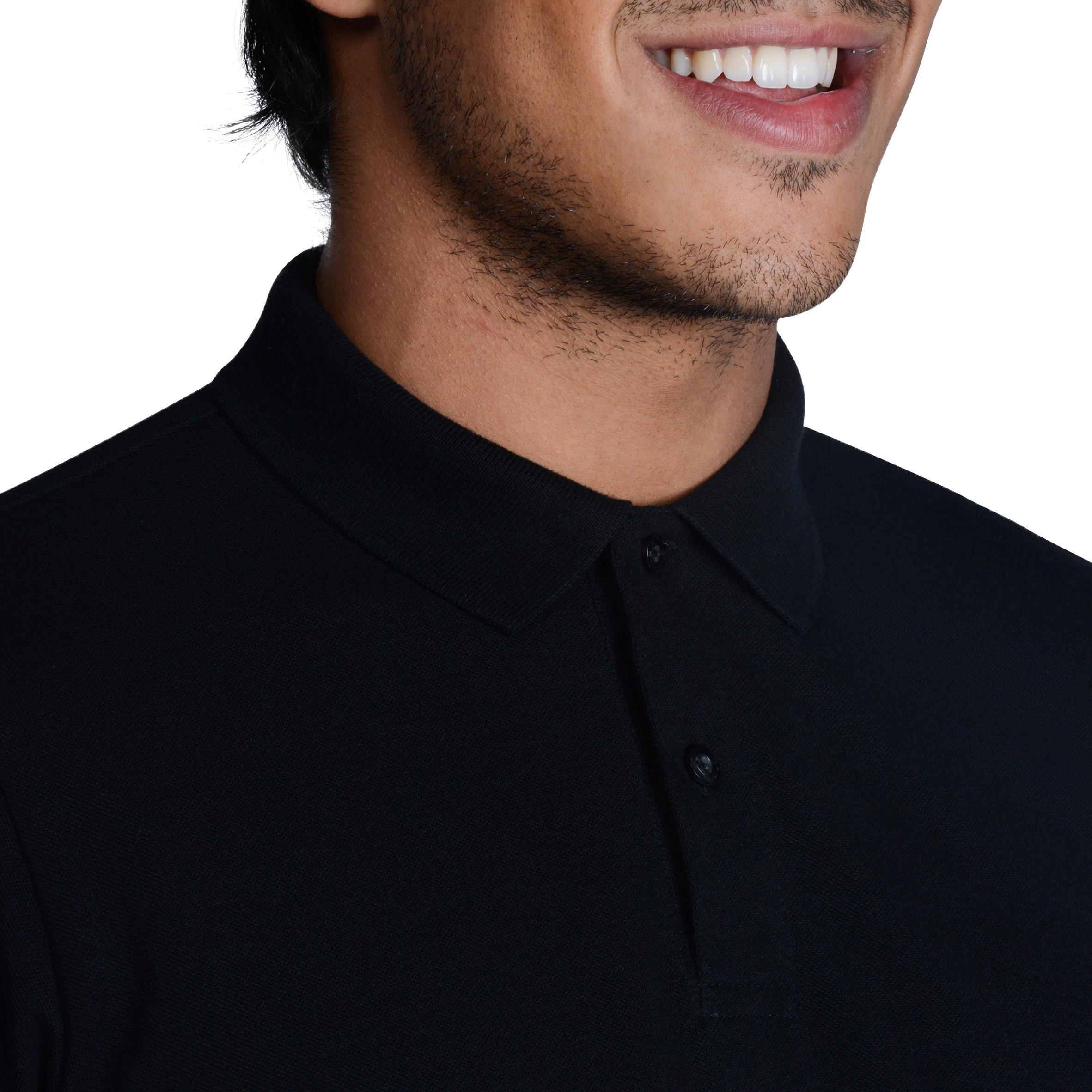 Polo de golf homme manches courtes 500 temps chaud noir