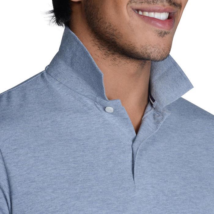 Golf Poloshirt 500 Kurzarm Herren mildwarm grau meliert